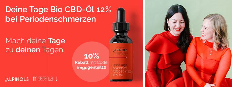 Das DEINE TAGE Bio CBD-Öl 12% bei Periodenschmerzen